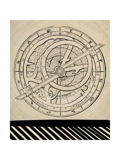 Astrology Chart-GI ArtLab-Premium Giclee Print