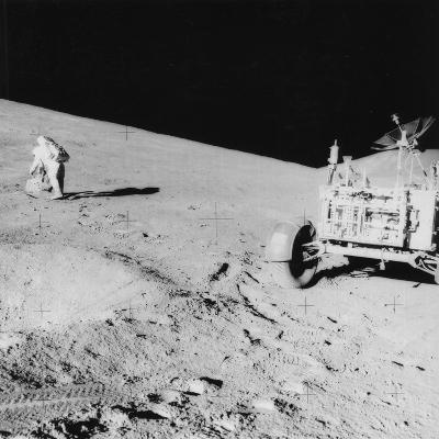 Astronaut David Scott (B193) on the Slope of Hadley Delta During Apollo 15, 1971--Photographic Print