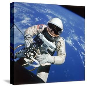 Astronaut Ed White Making First American Space Walk, 120 Miles Above the Pacific Ocean