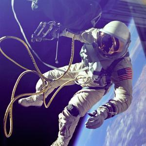 Astronaut Edward White, the First American to Walk in Space on June 3 1965