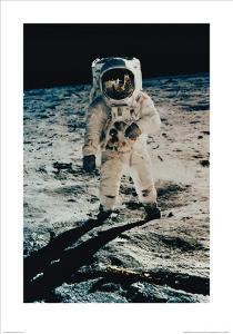 Astronaut Edwin Aldrin on the Moon, Apollo 11, July c.1969