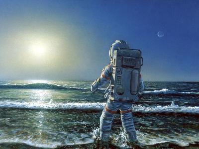 Astronaut Exploring An Alien Planet-Chris Butler-Photographic Print