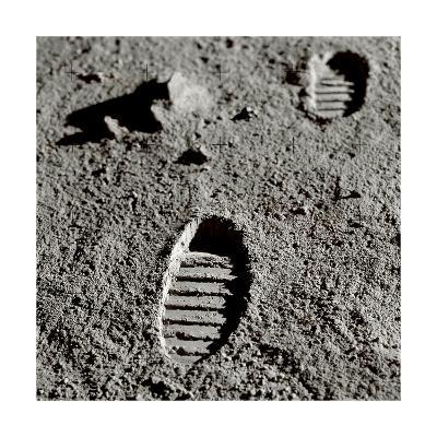 Astronaut Footprints on the Moon-Detlev Van Ravenswaay-Giclee Print