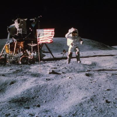 Astronaut John Young During Apollo 16 Moon Walk