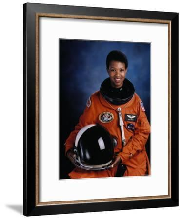 Astronaut Mae Jemison, First African American Woman in Space as Sts 47 Endeavour Mission Specialist--Framed Premium Photographic Print