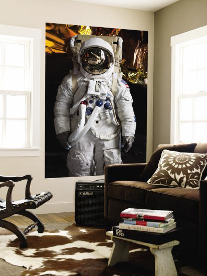 Astronaut Moonwalk Suit at the U.S. Space & Rocket Center, Huntsville, Alabama, USA-Walter Bibikow-Wall Mural