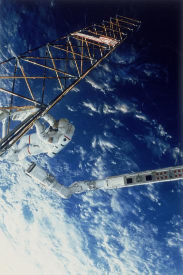Astronaut on Eva from the Space Shuttle Atlantis, 1985--Photographic Print
