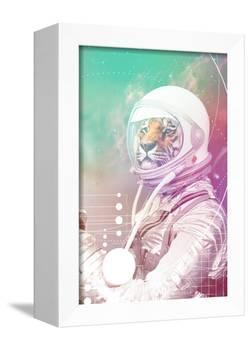 Astronaut Tiger-null-Framed Stretched Canvas