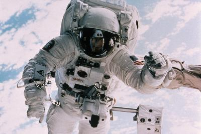 Astronaut Walking in Space-David Bases-Wall Mural
