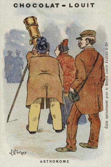 Astronome-Louis Borgex-Giclee Print