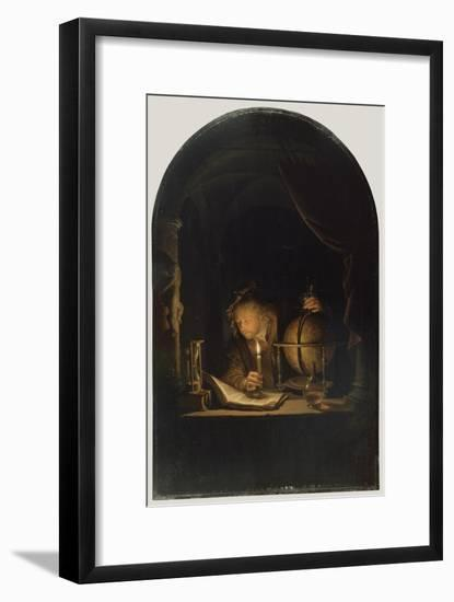 Astronomer by Candlelight, c.1650-Gerrit or Gerard Dou-Framed Giclee Print