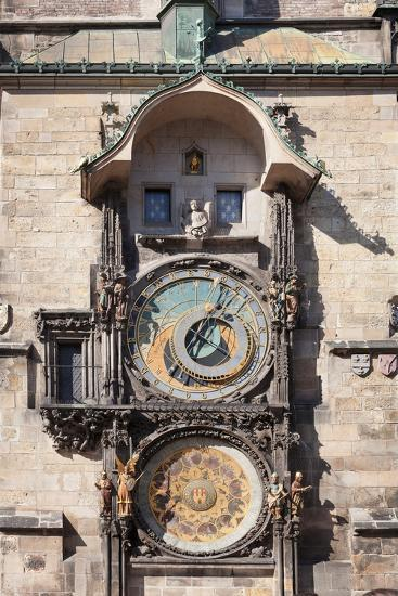 Astronomical Clock at the Old Town Hall, Prague Old Town Square, Prague, Czech Republic--Photographic Print