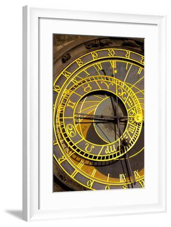 Astronomical Clock on the Town Hall, Old Town Square, Prague, Czech Republic, Euruope-Miles Ertman-Framed Photographic Print