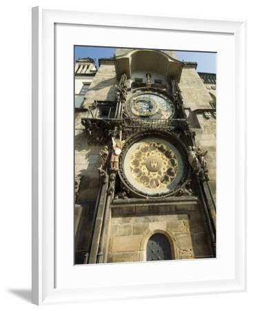 Astronomical Clock, Stare Mesto, Prague, Unesco World Heritage Site, Czech Republic-Ethel Davies-Framed Photographic Print