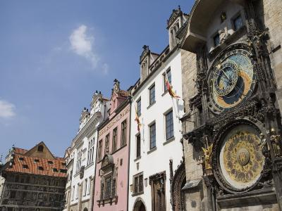 Astronomical Clock, Town Hall, Old Town Square, Old Town, Prague, Czech Republic, Europe-Martin Child-Photographic Print