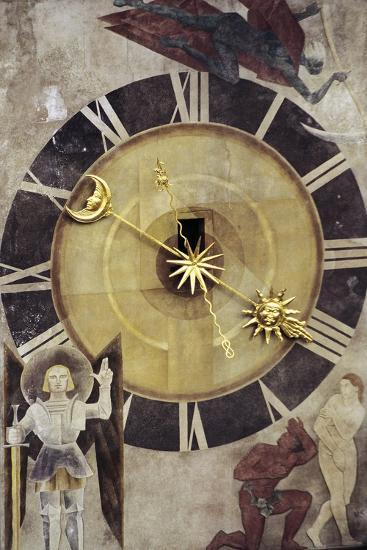 Astronomical Dial, Clock Tower--Giclee Print