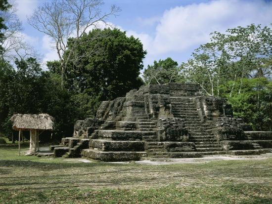 Astronomical Observatory of the Archaeological Mayan Site of Uaxactun, in Peten--Giclee Print