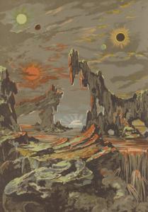 Astronomie populaire, éd. 1880, par Camille Flammarion (1842-1925). Frontispice du tome 2 .