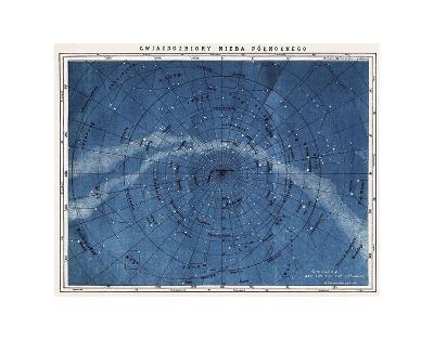 Astronomy Map Northern Constellations--Art Print