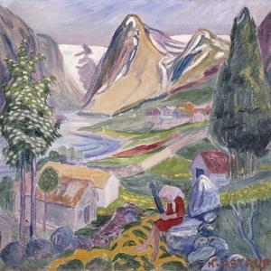 Kari at Sunde by Astrup Nikolai