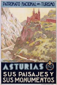Asturias Sus Paisa Jes Y Sus Monumentos Poster
