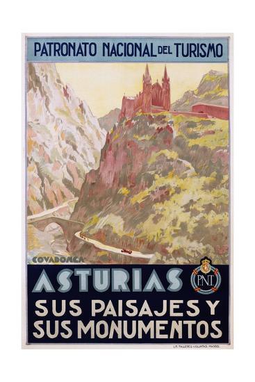 Asturias Sus Paisa Jes Y Sus Monumentos Poster--Giclee Print