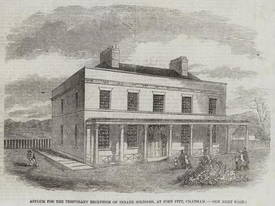 Asylum for the Temporary Reception of Insane Soldiers, at Fort Pitt, Chatham--Giclee Print