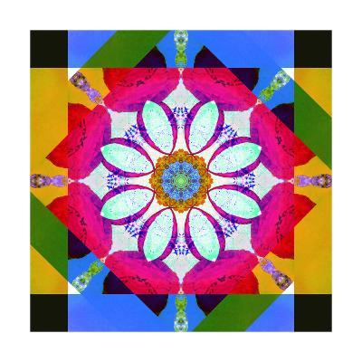 Asymetric Mandala Geometry-Alaya Gadeh-Art Print