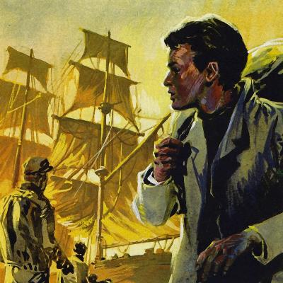 At 17, Conrad Obtained a Job as an Apprentice on a Ship--Giclee Print