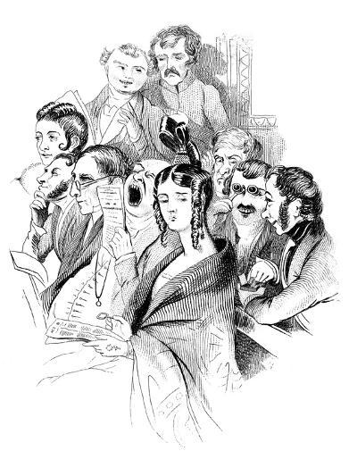 At a Concert, 19th Century--Giclee Print