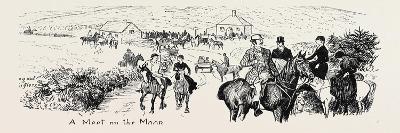 At a Deer Hunt on Exmoor--Giclee Print