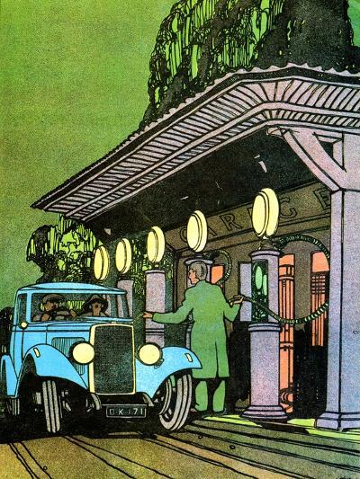 At a Filling Station, C1930-Leslie Carr-Giclee Print