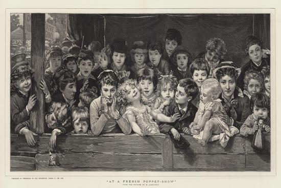 At a French Puppet-Show-Timoleon Marie Lobrichon-Giclee Print