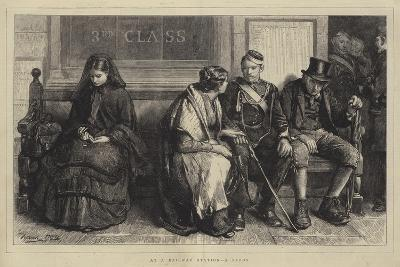 At a Railway Station, a Study-Frank Holl-Giclee Print
