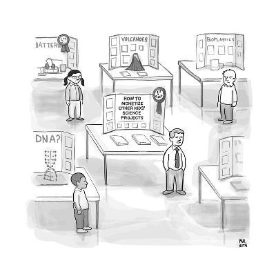 """At a science fair, first place goes to a child whose project reads """"How to... - New Yorker Cartoon--Premium Giclee Print"""
