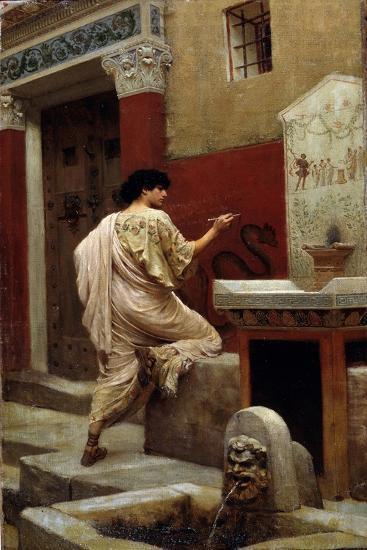 At a Wall, Pompeii-Stepan Vladislavovich Bakalowicz-Giclee Print