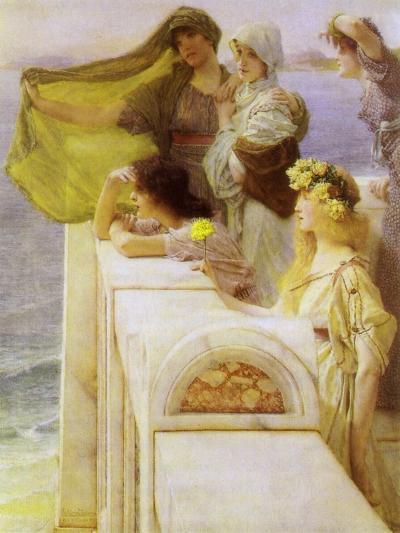 At Aphrodite'S Cradle, 1908-Sir Lawrence Alma-Tadema-Giclee Print