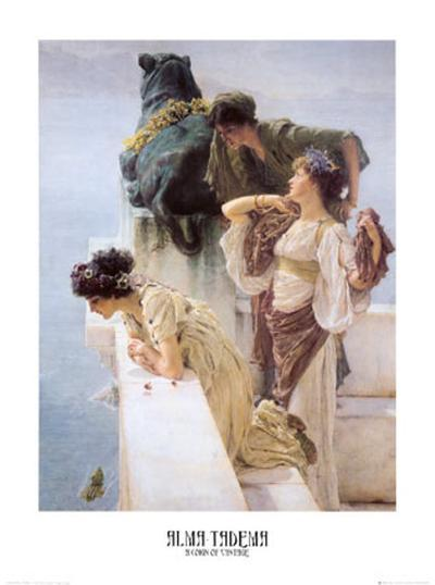 At Aphrodite's Cradle-Sir Lawrence Alma-Tadema-Art Print