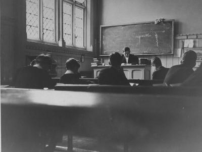 At Eton College, Students Attending a French Lesson--Photographic Print