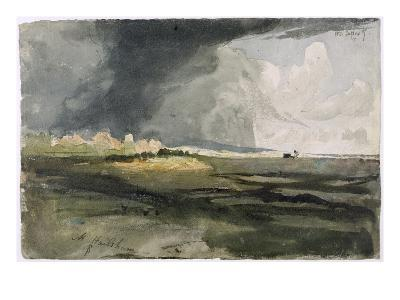 At Hailsham, Sussex: a Storm Approaching, 1821 (W/C over Graphite on Paper)-Samuel Palmer-Giclee Print