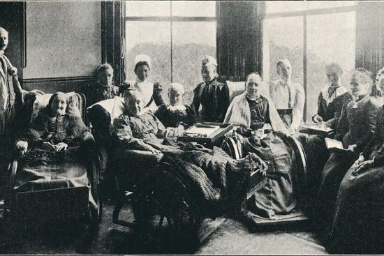 'At Home, a Favourite Window Recess in the Women's Corridor', 1901-Unknown-Photographic Print