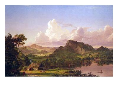 At Home on the Lake-Frederic Edwin Church-Art Print