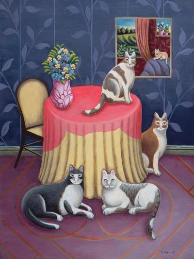 At Home-Jerzy Marek-Giclee Print