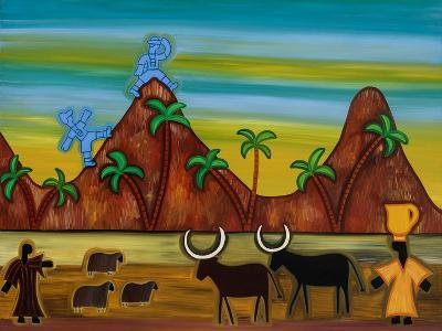 At last, the first signs of civilization,2003,-Cristina Rodriguez-Giclee Print