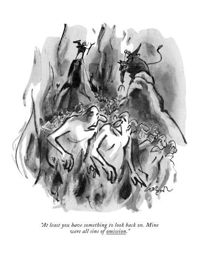 """""""At least you have something to look back on. Mine were all sins of omissi?"""" - New Yorker Cartoon-Lee Lorenz-Premium Giclee Print"""