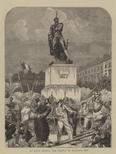 At Metz, before the Statue of Marshal Ney--Giclee Print