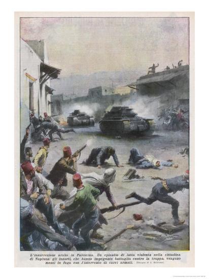 At Nablus Palestinians Rebel Against British Mandate-Achille Beltrame-Giclee Print
