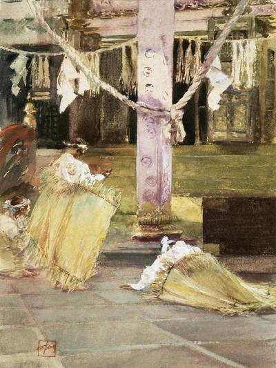 At Prayer, Temple Interior, C.1891-Robert Frederick Blum-Giclee Print