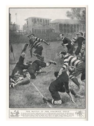 At Richmond, the Army Service Corps Beat the New Zealand All Blacks by 21-3--Giclee Print