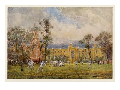 At Rugby School the Rugby Game as it Is Played at Rugby School--Giclee Print